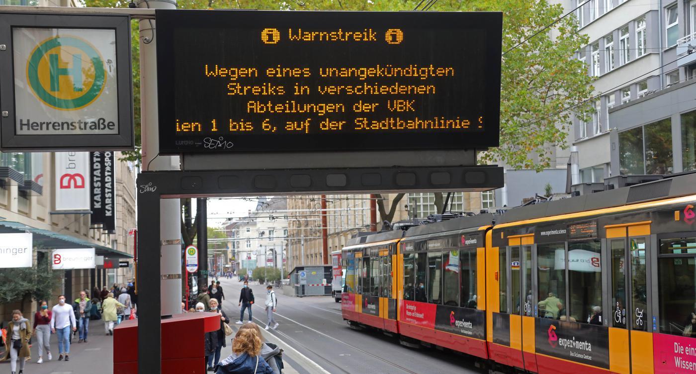 Verdi Streik Karlsruhe