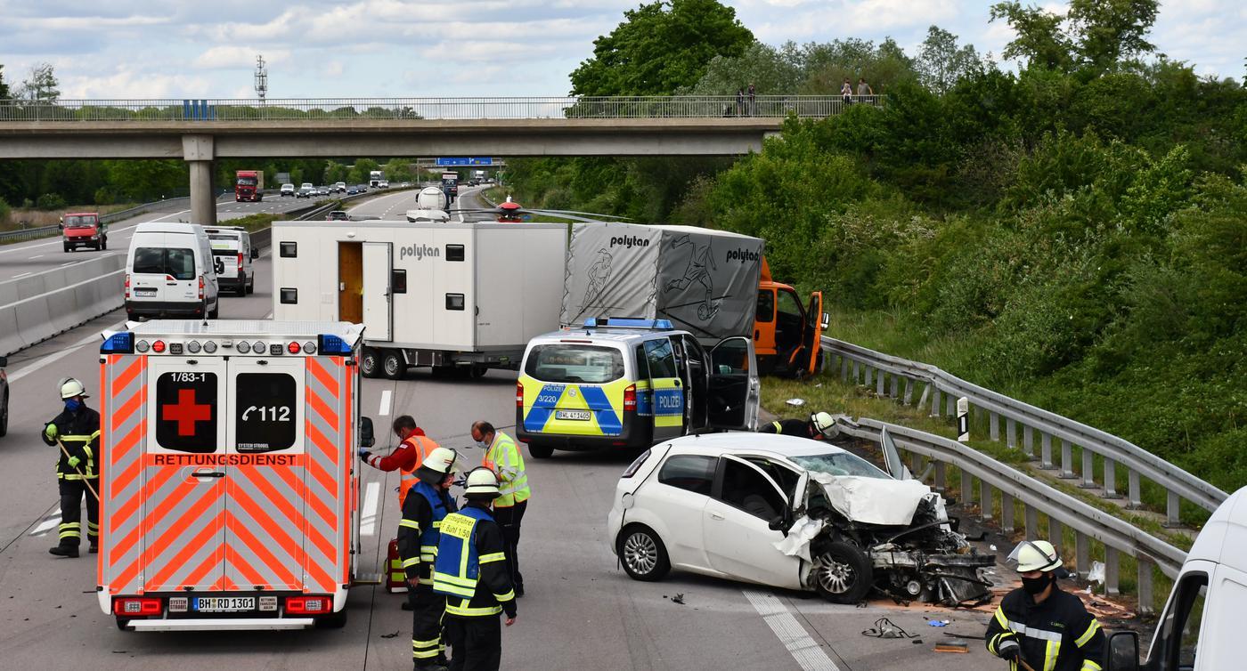 Unfall A5 Bühl