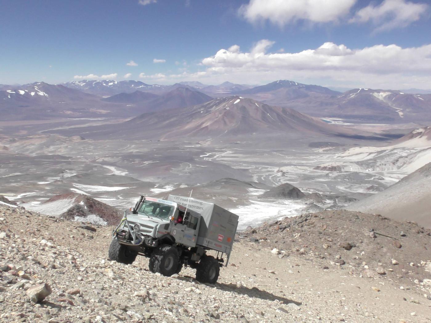 Gipfelsturm Zum Weltrekord Gaggenauer Unimog Fahrt Auf 6 694 Hohenmeter