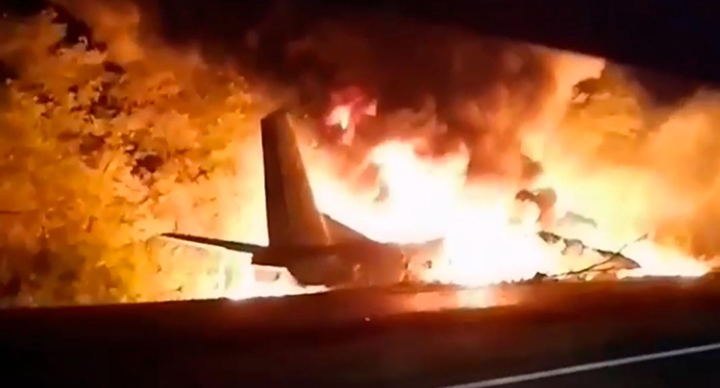 Militärflugzeug in Ukraine abgestürzt: Tote und Verletzte